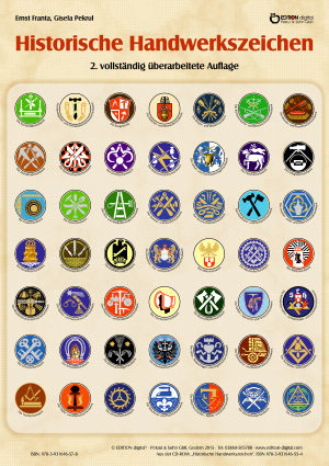 Historische Handwerkszeichen. Poster mit Beschreibung von Gisela Pekrul, Ernst Franta (Autor)
