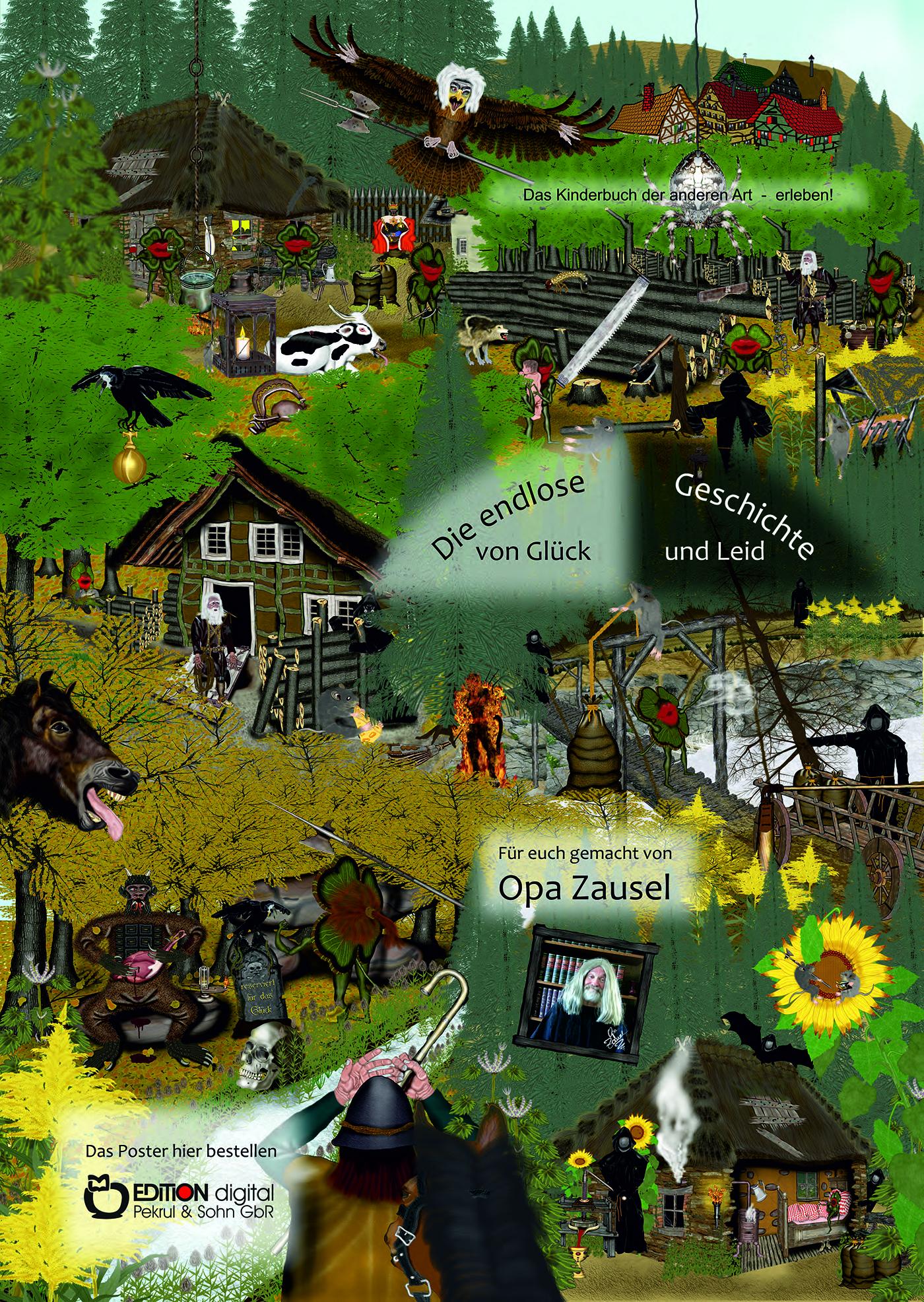 Poster zur endlosen Geschichte von Glück und Leid von Opa Zausel