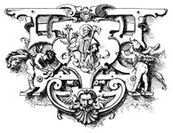 Zimmerer: Zunftwappen der Zimmerer in Linz von 1645