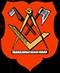 Zimmerer: Zunftwappen der Zimmerer in Berlin von 1704