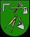 Zimmerer: Zunftwappen der Zimmerer in Paris aus dem 15. Jahrhundert