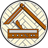 Parkettleger: Berufswappen der Parkettleger