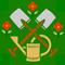 Gärtner, Imker: Berufssymbol der Gärtner um 1935