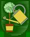 Gärtner, Imker: Berufssymbol der Gärtner um 1955