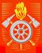 Bergleute, Feuerwehr: Berufswappen der Feuerwehr um 1955
