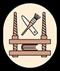Buchbinder: Handwerkswappen der Buchbinder um 1940